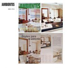 Capa da Revista Pequenos Ambientes com projeto de Duplex para aproveitamento inteligente de pequenos espaços.